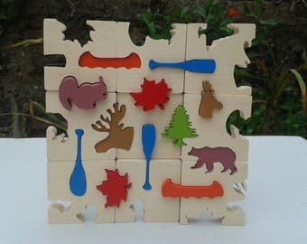 The colors of the North solid wooden puzzle