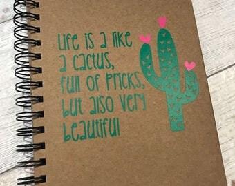 Cactus Notebook A5