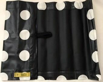 Roll up Chalk Mat White Spot, roll up chalkmat, roll up chalk mat, blackboard mat, travel toy