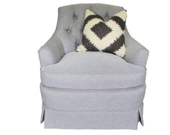 VINTAGE- Gray Tufted Henredon Chair