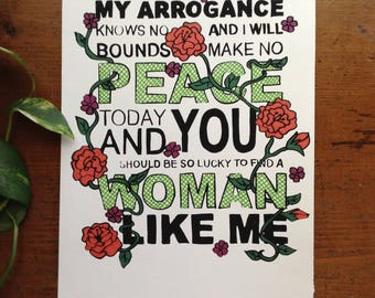 Woman Like Me Print