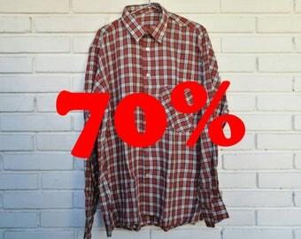 LUMBERJACK SHIRT / / unisex / / vintage clothing / / checkered pattern / / network / / green