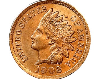1902 Indian Head Cent - Gem BU / MS RD / Unc