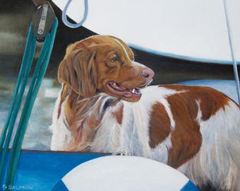 The Boat Dog (oils, 2016)