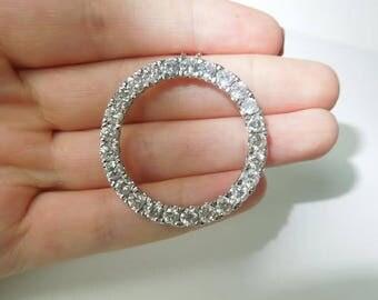 Ladies circle of life G-VVS1 diamond pendant white gold jewelry 8.75 carats