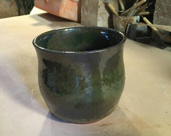 A wheel thrown vase/ bowl shape