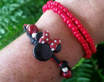 Novelty, fun adjustable Minnie bracelets.