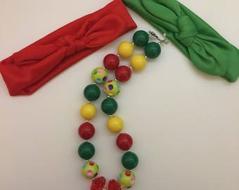 The very hungry caterpillar bubblegum necklace