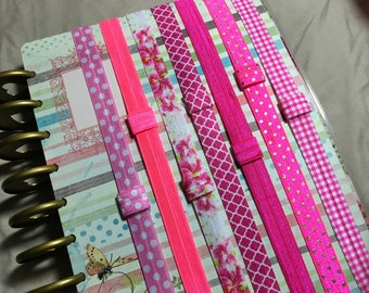 Custom Pink PLANNER BAND:Planner accessories, Elastic Band, PINK, Summer, Create 365, Mambie, Kikki K, Erin Condren