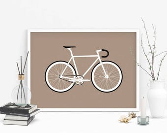 Gift for cyclist, cycling gift, bike gift, bicycle gift, cycling wall art, gallery wall