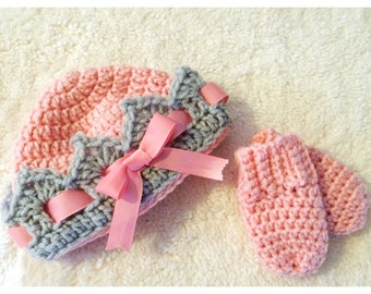 Princess Hat & Mitt Set