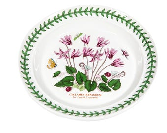 "FREE SHIPPING: Portmeirion Botanic Garden Bread & Butter Dish -- Vintage 7 1/4"" China Plate - Ivy Leaved Cyclemen Pattern"