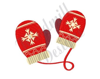 Winter Snowflake Mittens - Machine Embroidery Design