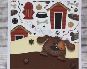 Card with cute dog