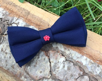 Bridesmaid gift, Women bow, Navy bow tie, Womens bow tie, Bowtie necklace Women bowtie Women bowties Beads bow tie Beads bow Wedding bow tie