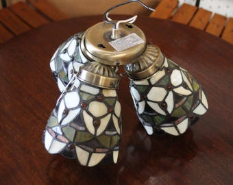 Tiffany Style Ceiling Fan Lamp Shade/Shades/Cover Stained Glass Light Fixture