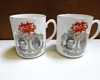 Nanrich Pottery Fine Bone China Mug/To Commemerate The Marriage of Prince Charles & Lady Diana 29 July 1981/Royal Souvenir/Vintage/1981
