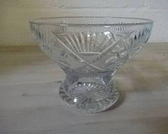 Cut Glass Vase/Bowl/Serving Bowl/Home Decor/Housewarming/Wedding/Anniversary/Retirement/Gifts/Vintage