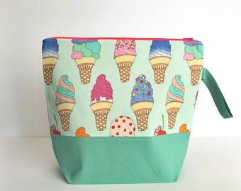 Large Project Bag Everybody Loves Ice Cream!