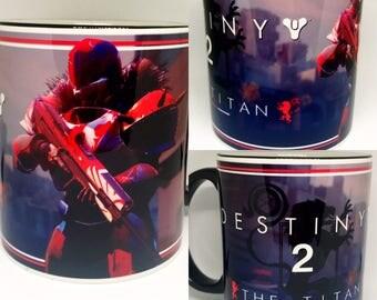 Custom Made Destiny 2 v2 The Titan Coffee Mug 15oz and 11oz Personalized