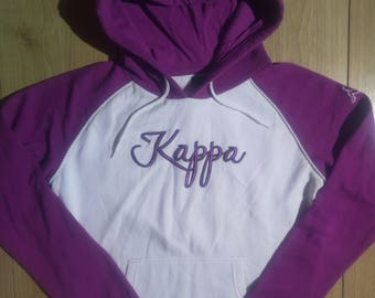 Kappa 90's Vintage Womens Tracksuit Top Hooded Jacket Hoodie