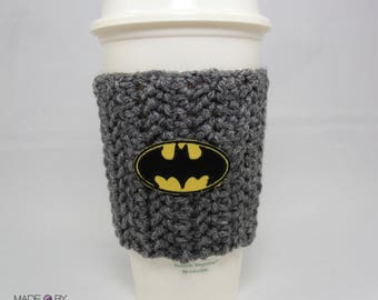 Batman coffee cozy, coffee sleeve