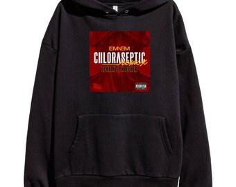 Eminem Chloraseptic Hoodie Classic Hip Hop Rap Vintage Style Sweatshirt Revival Slim Shady Records Aftermath Entertainment Detroit