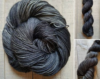 Dementor   Dyed to Order   Harry Potter Inspired Hand-Dyed Yarn