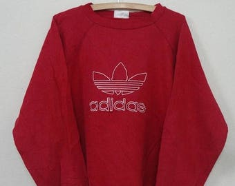 ON SALE 20% Rare!!! Vintage 90's Adidas Sweatshirt Adidas Big Logo Spellout Pullover Jumper Sweater Hip Hop Size M
