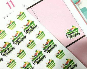 Grocery Shopping Planner Stickers