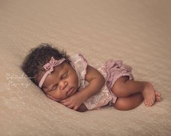 Newborn Lace Outfit, Newborn Photo Prop, Baby Girl Prop, Top & Panties, Baby Picture Prop, Newborn Romper, Newborn Props, Burgundy