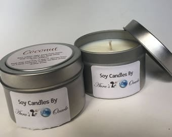 Coconut 4oz Soy Wax Candle