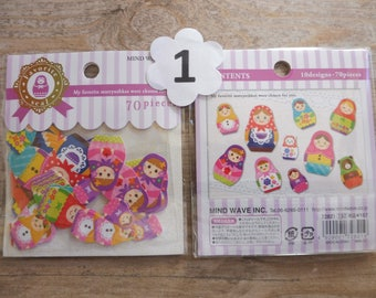 Stikers 50/70 pezzi/pieces in 3 assorted designs listed here and numbering