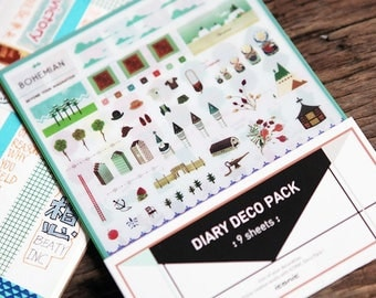 Deco Pack 9 sheets set diary