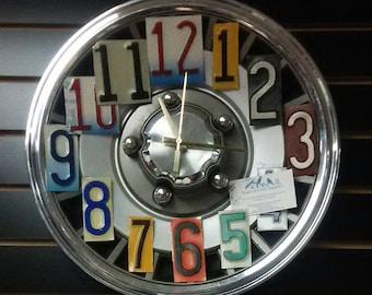 Truck Hubcap Clock