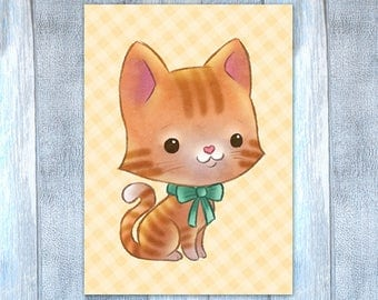 Little Tabby Cat Card