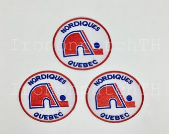 Quebec Nordiques Embroidered Iron On Patch - Set 3 PCS.