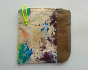 "Organic canvas + recycled tent ""No Waste"" Wash-bags"