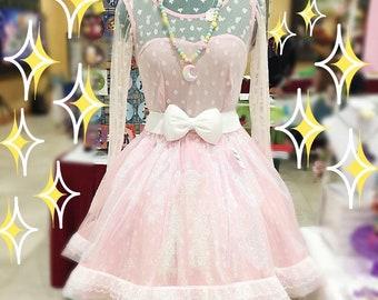 Fairy Kei Skirt | Pink Sheer Skirt | Iridescent Skirt