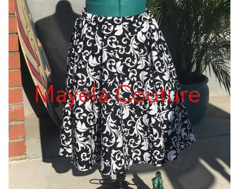 READY TO SHIP Full skirt w/elastic waistband and deep pockets