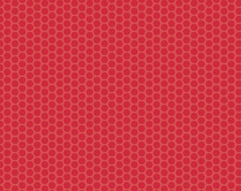 Red Dot Fabric - Riley Blake Honeycomb Dot - Red on Red Dot Fabric