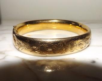 Antique 14k Gold Filled Bangle Bracelet