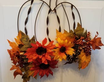 Fall wreath/pumpkin wreath/ door wreath/holiday wreath/ top selling wreath