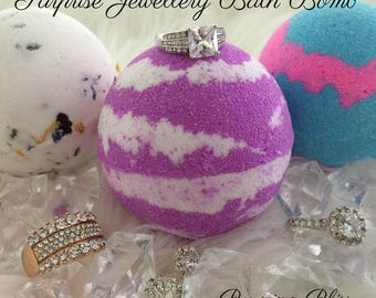 SURPRISE JEWELLERY Bath Bomb,Bath Fizzie,Bubble Bar,Bath Bomb Gift,Luxury Bath Treat,Great Gift!