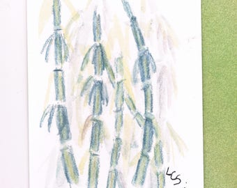 Bamboo - Mixed Media - An ACEO Original Painting