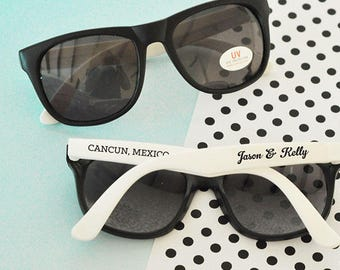 Personalized Wedding Sunglasses - Bridal Party, Wedding Gifts, Bridesmaids, Bride, Groomsman