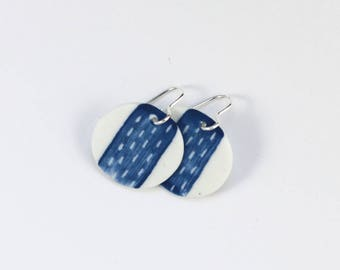 Perforated - Small Blue Earrings