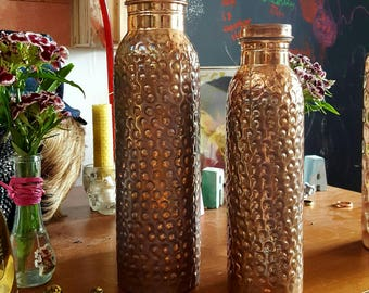 Patinated Ayurvedic Pure Copper Water Bottle 950ml