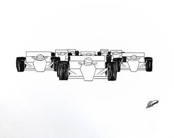 On Your Marks Artwork, Formula one / two, Original & Prints available.