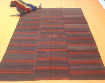 RohitFineRug -Indian Handmade Hand Loom Weave Stitching Dhurries Size 5x7 Shipping Free.